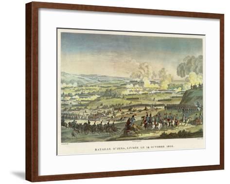 Napoleon Defeats the Prussians under Hohenloe at Jena--Framed Art Print