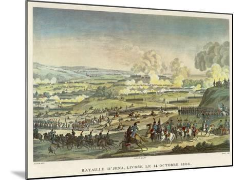 Napoleon Defeats the Prussians under Hohenloe at Jena--Mounted Giclee Print