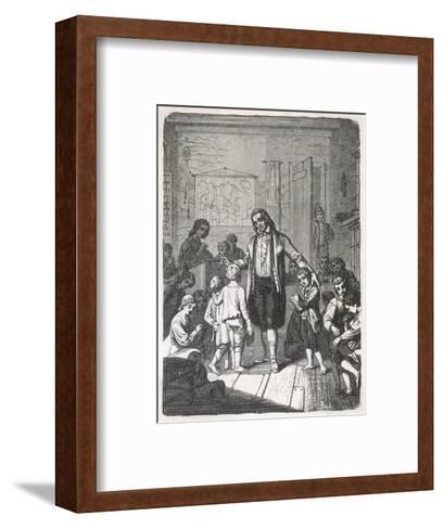 Pestalozzi's School--Framed Art Print