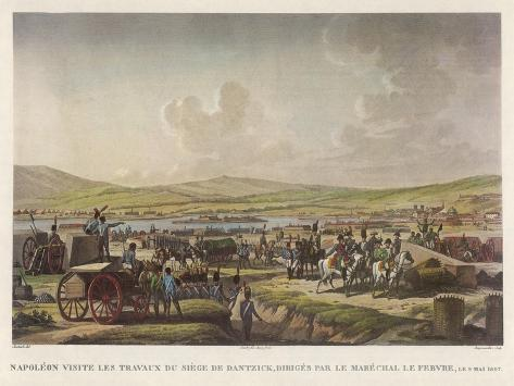 Napoleon at Danzig--Stretched Canvas Print