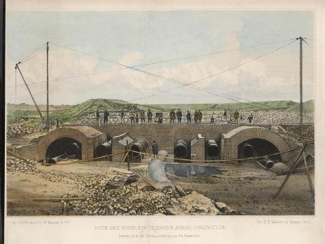New York Reservoir--Stretched Canvas Print