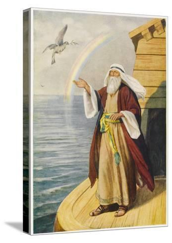 Noah on the Ark--Stretched Canvas Print