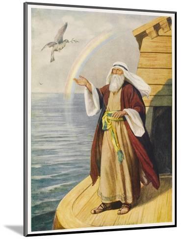Noah on the Ark--Mounted Giclee Print