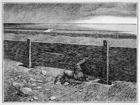 Oh, Whistle, and I'll Come to You! Parkins's Dream of the 'thing' on the Sea-Shore--Stretched Canvas Print