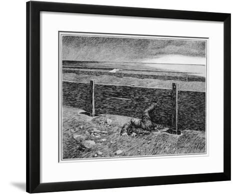 Oh, Whistle, and I'll Come to You! Parkins's Dream of the 'thing' on the Sea-Shore--Framed Art Print