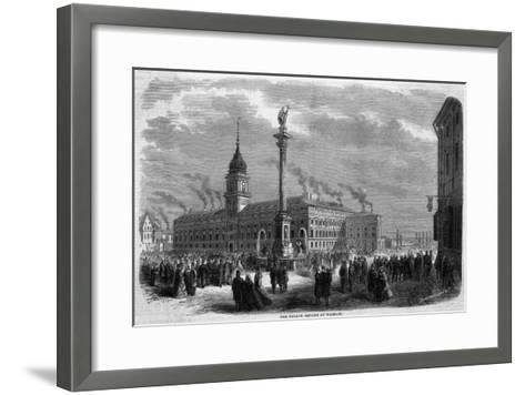 One of the Main Squares of the City--Framed Art Print