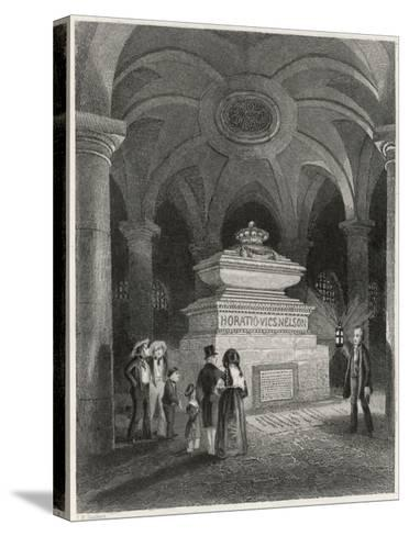 Nelson's Tomb in the Crypt of St Pauls--Stretched Canvas Print