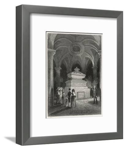 Nelson's Tomb in the Crypt of St Pauls--Framed Art Print