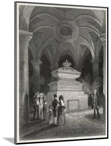 Nelson's Tomb in the Crypt of St Pauls--Mounted Giclee Print