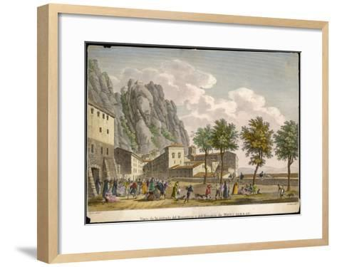Montserrat: Entrance to the Monastery and Hospice--Framed Art Print