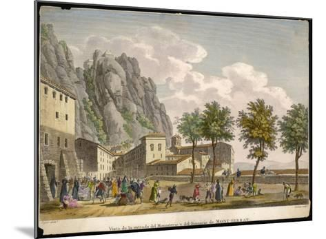 Montserrat: Entrance to the Monastery and Hospice--Mounted Giclee Print