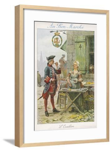 Paris, Oyster Stall 18C--Framed Art Print