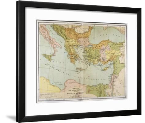 Part of the Roman Empire, Showing St Paul's Journeys--Framed Art Print