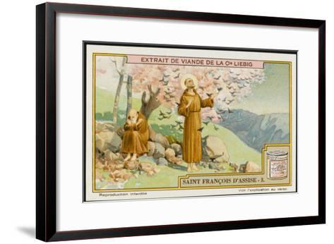 Saint Francis of Assisi - Preaching to the Birds--Framed Art Print