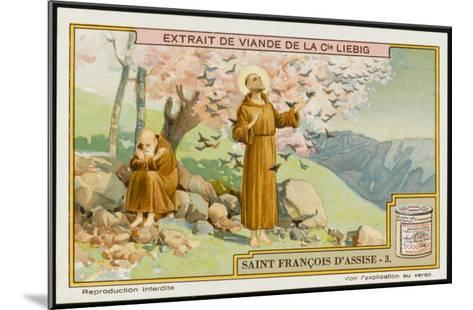 Saint Francis of Assisi - Preaching to the Birds--Mounted Giclee Print