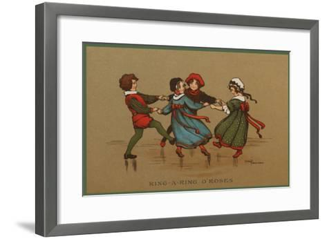 Some Children in Varied Costumes Play Ring-A-Ring O'Roses--Framed Art Print