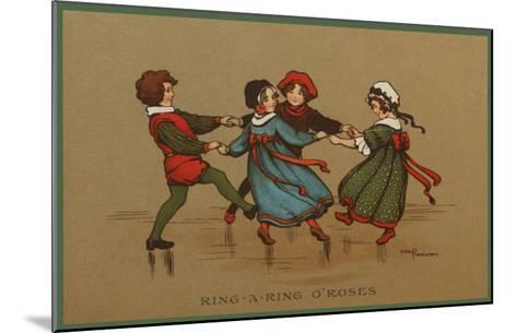 Some Children in Varied Costumes Play Ring-A-Ring O'Roses--Mounted Giclee Print