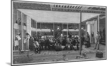 Steerage Passengers on Board an Atlantic Liner--Mounted Giclee Print