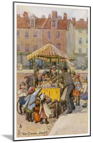 Ice Cream Stall--Mounted Giclee Print