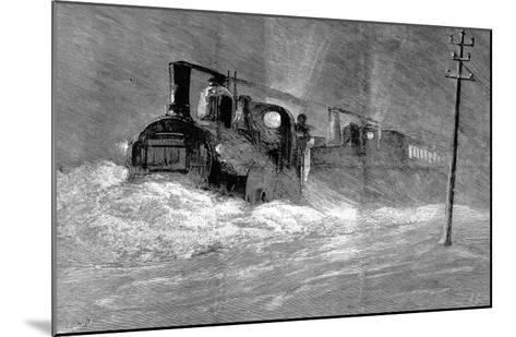 Snow Blizzard Blocking the North Eastern Train--Mounted Giclee Print