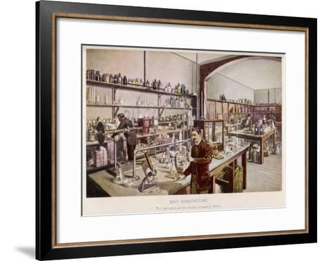 Soap Manufacture in the Laboratory at the Vinolia Company's Works--Framed Art Print