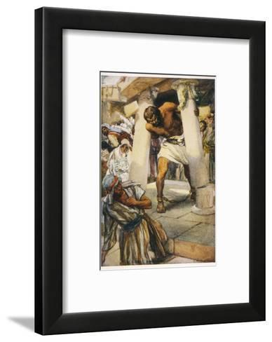 Samson Pulls Down the Pillars of the Temple--Framed Art Print