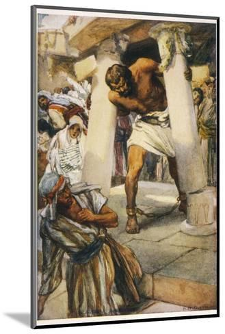 Samson Pulls Down the Pillars of the Temple--Mounted Giclee Print