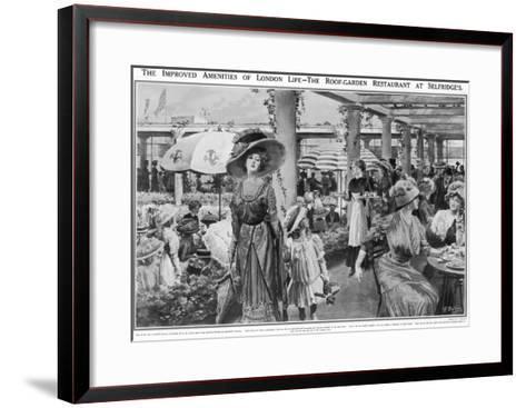 Selfridges' Roof Garden Restaurant, London, 1910--Framed Art Print