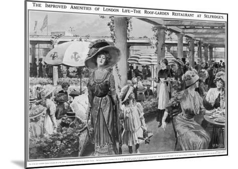 Selfridges' Roof Garden Restaurant, London, 1910--Mounted Giclee Print