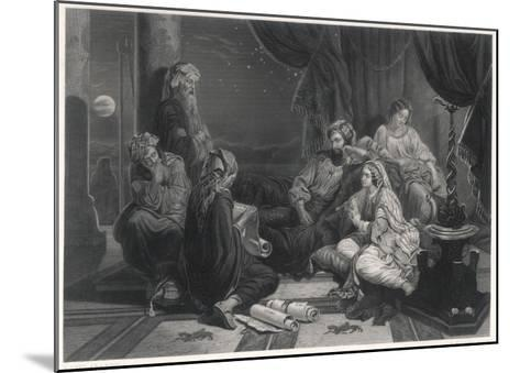 Scribes Read the Chronicles to Ahasuerus, King of Persia, as Mentioned in the Bible--Mounted Giclee Print