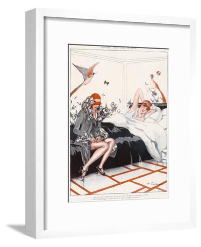 Stocking Adjustment--Framed Art Print
