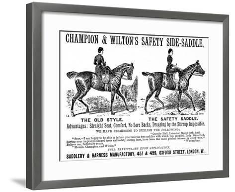 Safety Saddle--Framed Art Print