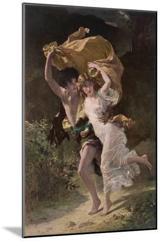 Running from Rain 1880--Mounted Giclee Print