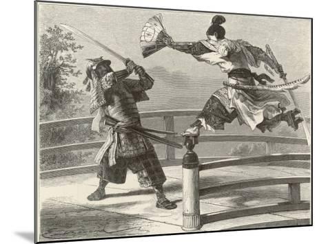 Samurai Warriers Fighting--Mounted Giclee Print