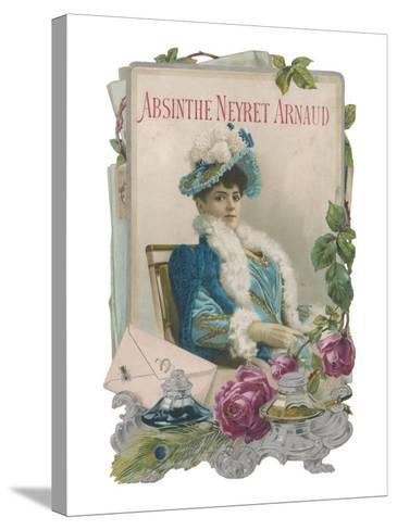 Showcard for Absinthe Neyret Arnaud--Stretched Canvas Print