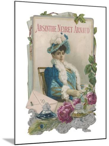 Showcard for Absinthe Neyret Arnaud--Mounted Giclee Print