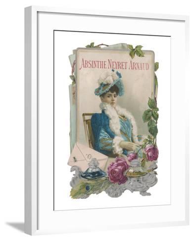 Showcard for Absinthe Neyret Arnaud--Framed Art Print
