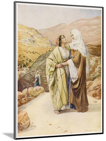 Ruth and Naomi--Mounted Giclee Print