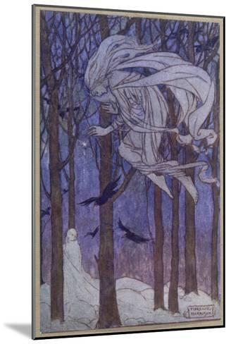 Snow Is Brought by the Fairy of the North Wind--Mounted Giclee Print