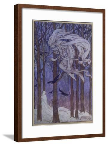 Snow Is Brought by the Fairy of the North Wind--Framed Art Print
