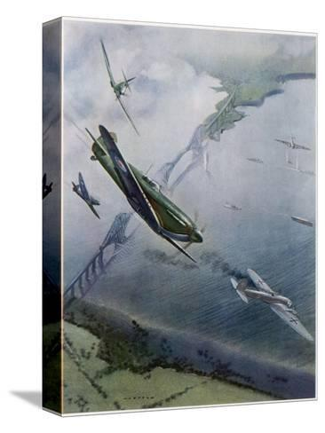 Spitfires over Forth--Stretched Canvas Print