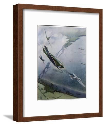 Spitfires over Forth--Framed Art Print