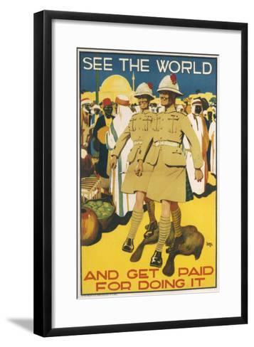 See the World - Poster--Framed Art Print