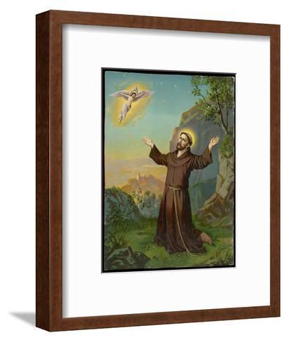 Saint Francis of Assisi - Receiving the Stigmata--Framed Art Print