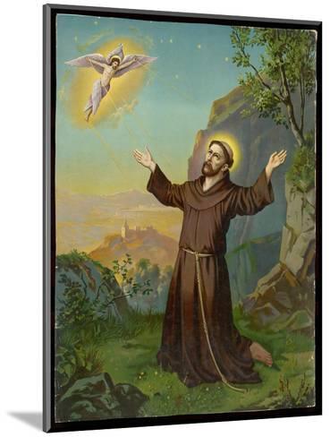 Saint Francis of Assisi - Receiving the Stigmata--Mounted Giclee Print