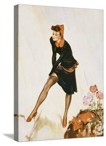 Show a Leg-David Wright-Stretched Canvas Print