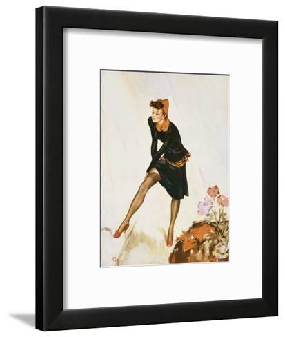 Show a Leg-David Wright-Framed Art Print