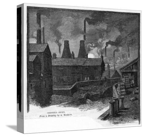 sheffield Smoke' Factories at Sheffield, Yorkshire (England)--Stretched Canvas Print