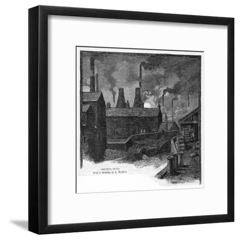 sheffield Smoke' Factories at Sheffield, Yorkshire (England)--Framed Art Print