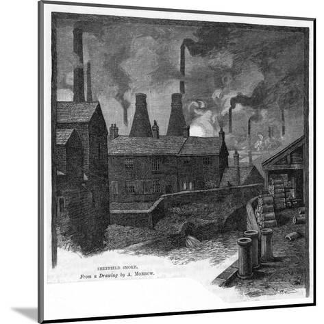 sheffield Smoke' Factories at Sheffield, Yorkshire (England)--Mounted Giclee Print